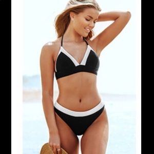 COPY - CupShe Black & White Staple Needs Bikini S…